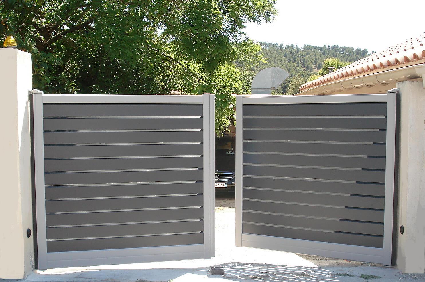 comment fixer un portail battant pergola garage et am nagement du jardin. Black Bedroom Furniture Sets. Home Design Ideas